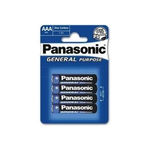 Batterie Panasonic R03 – AAA - 1.5 v 4 pièces
